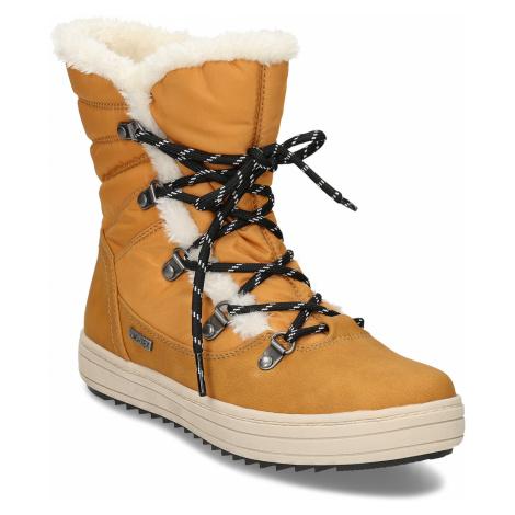 Zimní dámská obuv s huňatým kožíškem Baťa