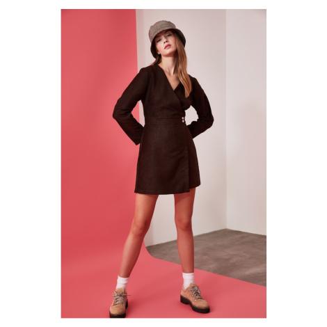 Trendyol Brown Suede Shorts Skirt Dress