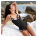 Blancheporte Jednodílné plavky, s kosticemi vícebarevná/černá, koš.E