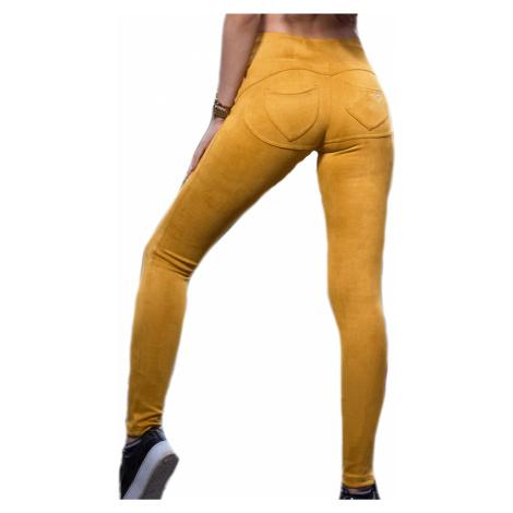 Dásmké legíny push-up Disstyle hořčicové   žlutá