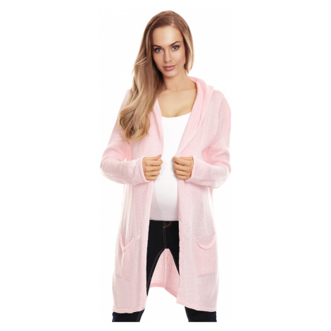 Ružový tehotenský kardigan 30063 PeeKaBoo