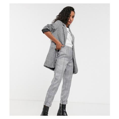 Parisian Petite check tailored slim leg trousers-Multi