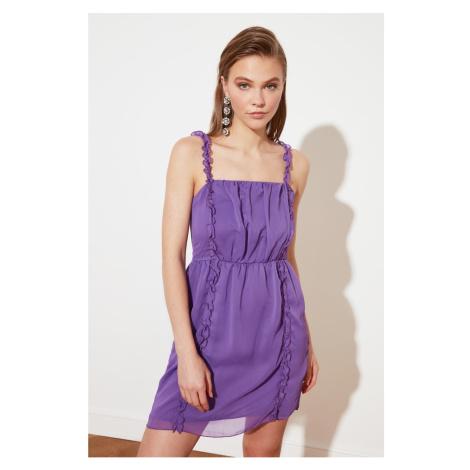 Trendyol Purple Collar Detailed Dress
