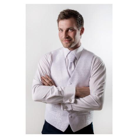 Pánská vesta k obleku - bílá Avantgard