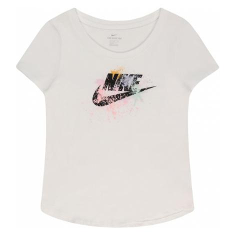 Nike Sportswear Tričko 'SCOOP FUTURA' bílá / černá / růžová / mátová / šafrán