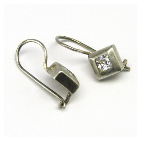 AutorskeSperky.com - Stříbrné naušnice s bílými topazy - S2567
