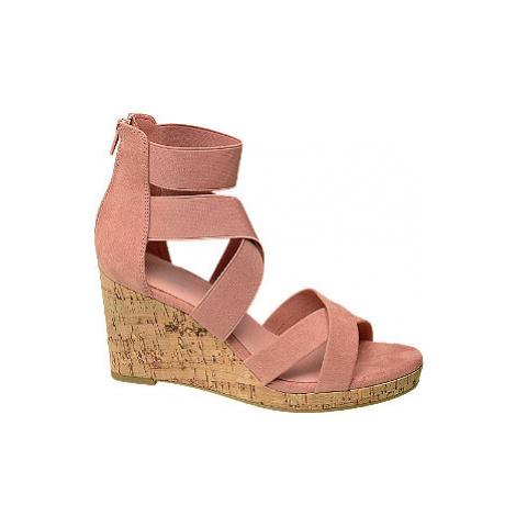 Starorůžové sandály na klínku Graceland
