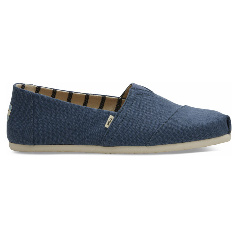 Mallard Blue Heritage Canvas Men Alpargata Toms