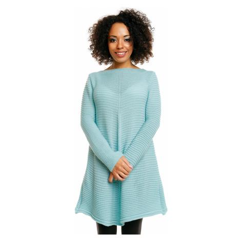 Dámský asymetrický volný svetr polovr s dlouhými rukávy