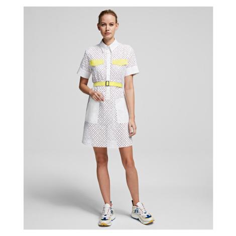 Šaty Karl Lagerfeld Karl Broderie Anglais Dress - Bílá
