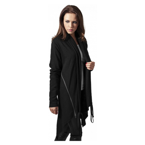 Ladies Terry Cardigan - black Urban Classics