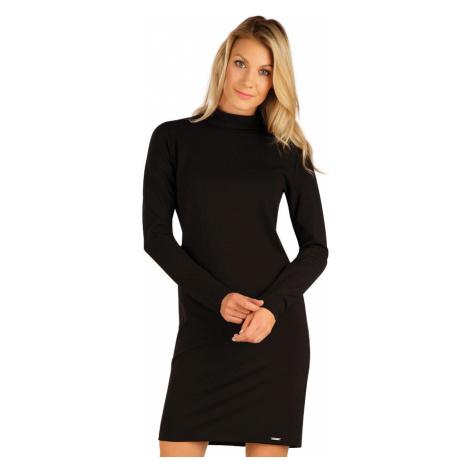 LITEX Šaty dámské s dlouhým rukávem 7A131901 černá