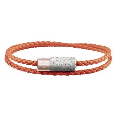 Oranžový náramek Unity Double – světle šedý – růžové zlato GRAVELLI JEWELLERY
