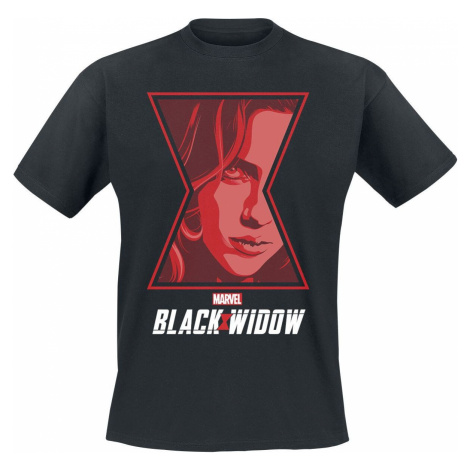 Black Widow Poster Tričko černá