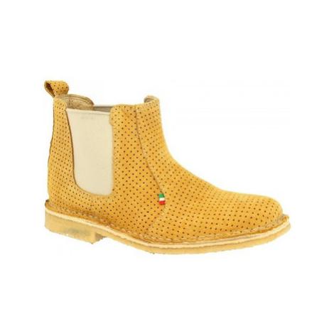 Leonardo Shoes 083 TRAFORATO OCRA Žlutá