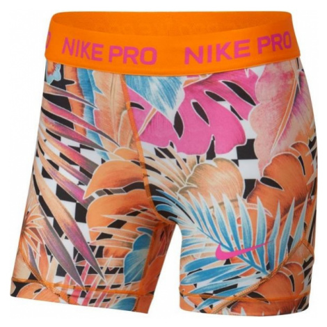 Nike NP SHORT BOY AOP1 oranžová - Dívčí sportovní šortky