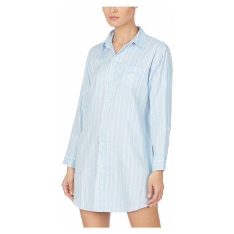 Ralph Lauren dlouhá košile ILN31733 modrá - Modrá