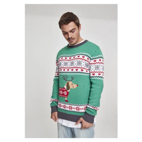 Svetr Urban Classics Sausage Dog Christmas Sweater