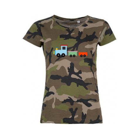 Dámské maskáčové tričko Kids train