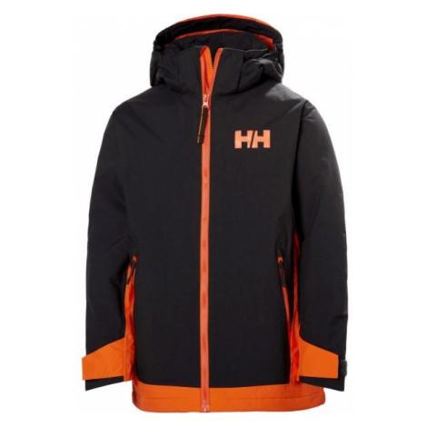Helly Hansen JR HILLSIDE JACKET černá - Dětská lyžařská bunda