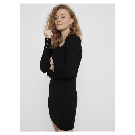 Černé svetrové šaty ONLY Avy