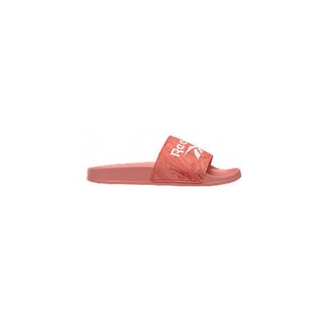 Oranžovo-růžové pantofle Reebok Fulgere Slide
