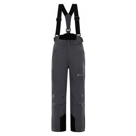 ALPINE PRO NEXO 2 Dětské softshellové lyžařské kalhoty KPAP169770 šedá