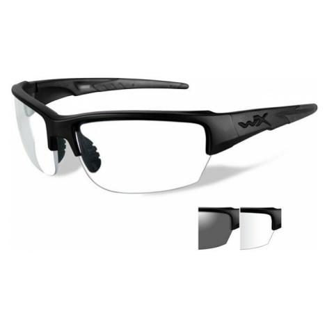 Střelecké brýle Wiley X® Saint, sada - černý rámeček, sada - čiré a kouřově šedé čočky