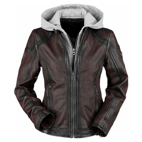Gipsy Angy W18 LASANV Dámská kožená bunda tmavě červená