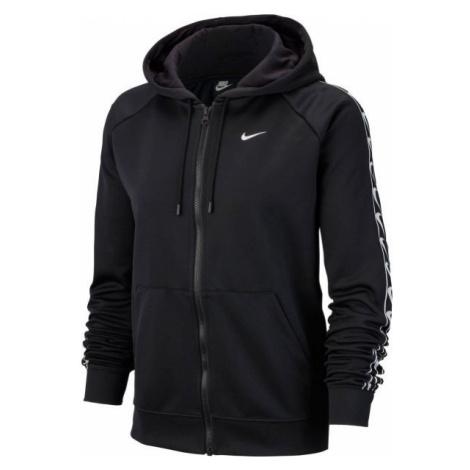 Nike NSW HOODIE FZ LOGO TAPE černá - Dámská mikina