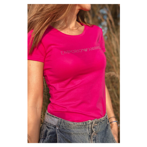 Emporio Armani Underwear Emporio Armani Neo Romantic tričko s krátkým rukávem dámské - růžové