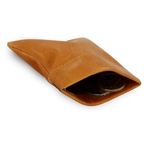 Světle hnědá kožená kapsa na mince Emery Arwel