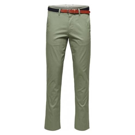 SELECTED HOMME Kalhoty olivová