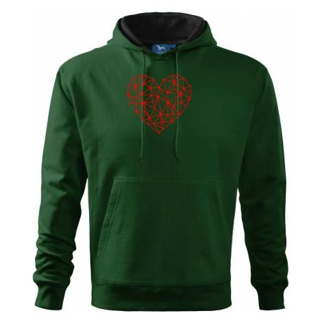 Srdce síť - Mikina s kapucí hooded sweater