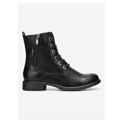 Kotníková obuv Tom Tailor Černá