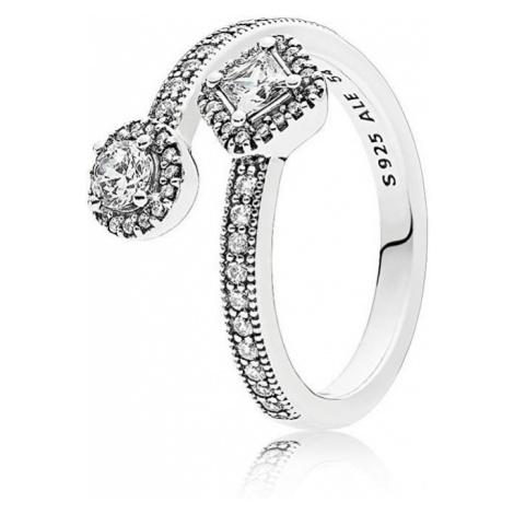 Pandora Luxusní stříbrný prsten 191031CZ