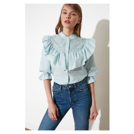 Trendyol Blue Upright Shirt