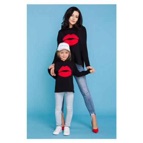 Mikina s kapucí a pusou pro maminku MMM22 MiniMom