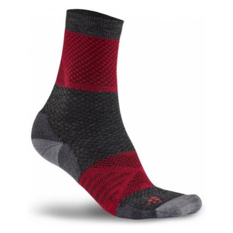 Ponožky CRAFT XC Warm černá/červená