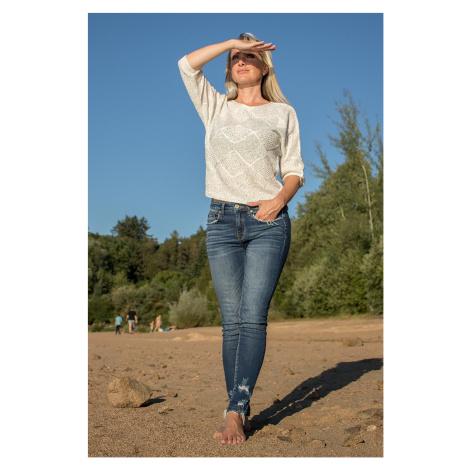 Guess dámský svetr bílý s flitry