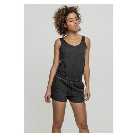 Ladies Cold Dye Short Jumpsuit - black Urban Classics