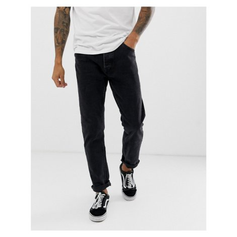 Bershka slim fit jeans in washed black