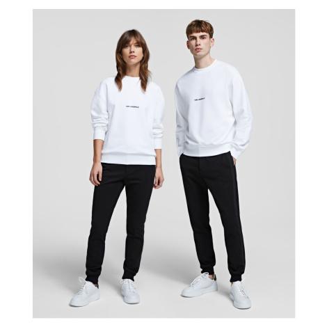 Mikina Karl Lagerfeld Unisex Logo Sweatshirt - Bílá
