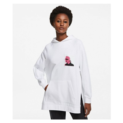 Mikina Karl Lagerfeld Karl Legend Print Hoodie - Bílá