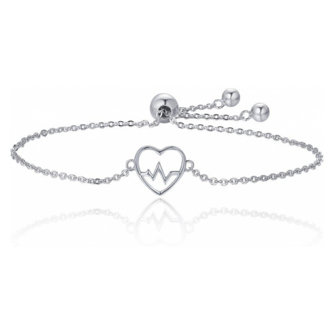 Linda's Jewelry Stříbrný náramek Love Srdcebeat INR072