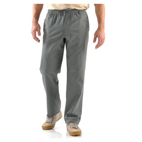 Blancheporte Pohodlné plátěné kalhoty šedá