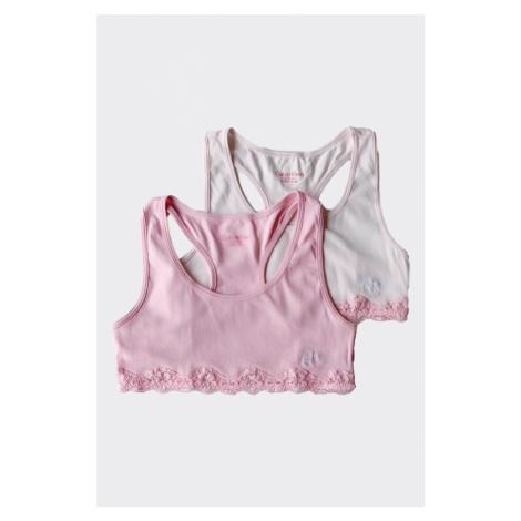 PRO DĚTI! Calvin Klein 2 balení Girls Braletky - světle růžová