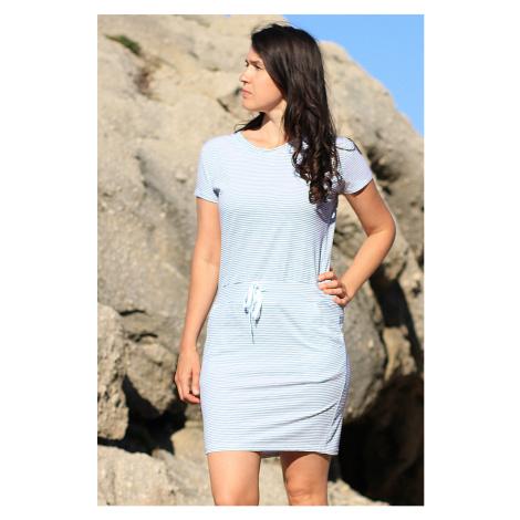 Bavlněné dámské krátké pruhované šaty