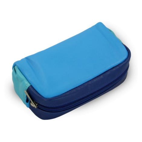 Barevně modrá dámská kožená etue Nevaeh Arwel