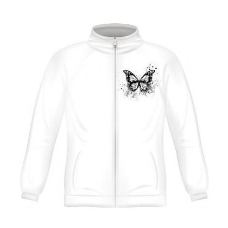 Pánská mikina zip FRUIT Motýl grunge